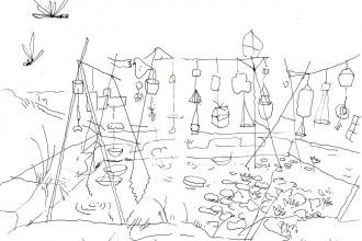 pluies dessinée par Vaiana Gauthier au Bruit de la Musique